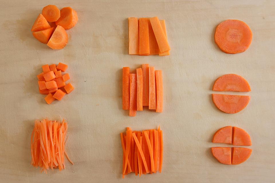 野菜の切り方