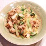 白菜と豚肉のオイスターソース炒め