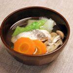 鱈と野菜のお吸い物