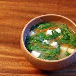 春菊と豆腐のお味噌汁