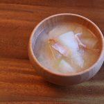 冬瓜とベーコンのお味噌汁