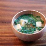 春菊のお味噌汁