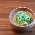 春キャベツと厚揚げのお味噌汁