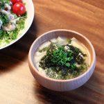 のりと豆腐のお味噌汁