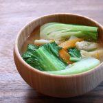 青梗菜(チンゲンサイ)のお味噌汁