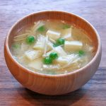 ぶんどう豆とえのきのお味噌汁