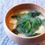 豆腐とわかめとおかひじきのお味噌汁