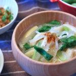 細切り大根と小松菜のお味噌汁