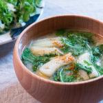 水菜とお揚げさんのお味噌汁