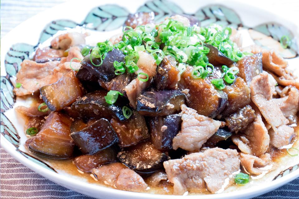 米ナスと豚肉の炒め