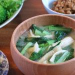 小松菜とお揚げさんのお味噌汁