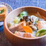 秋鮭と野菜のお味噌汁