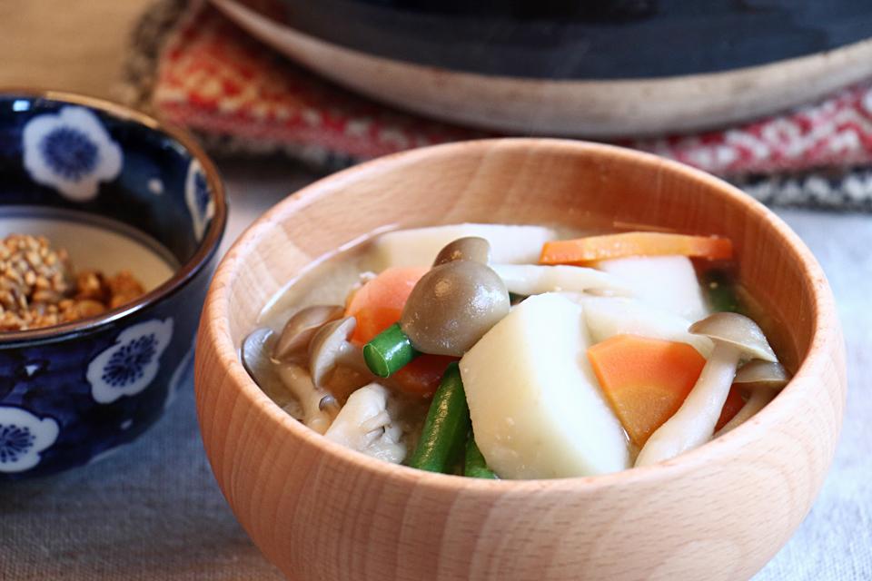 たけのこ芋のお味噌汁