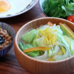 キャベツと柚子のお味噌汁