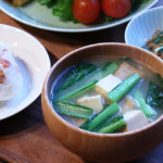 小松菜と厚揚げのお味噌汁
