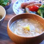 えのきと油揚げと柚子のお味噌汁