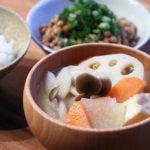 厚揚げと根菜のお味噌汁