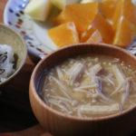 えのきと油揚げのお味噌汁