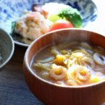 白菜とちくわのお味噌汁