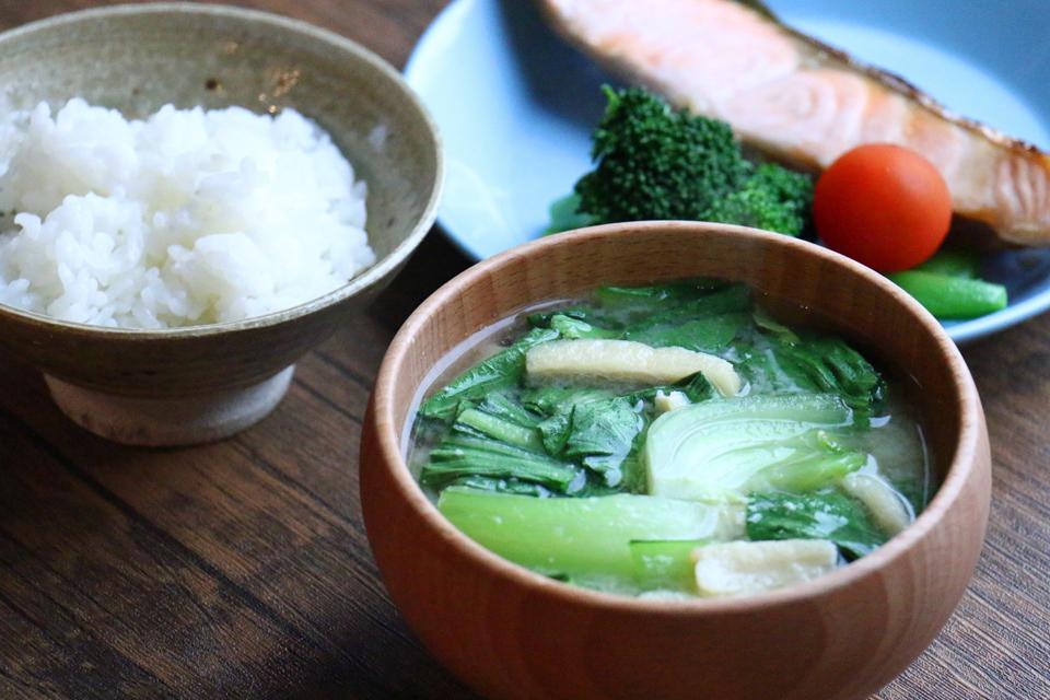 チンゲン菜のお味噌汁