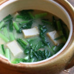 厚揚げと小松菜のお味噌汁
