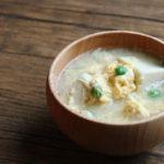 高野豆腐の卵とじお味噌汁
