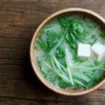 水菜と豆腐のお味噌汁