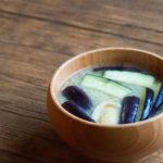 松山長なすのお味噌汁